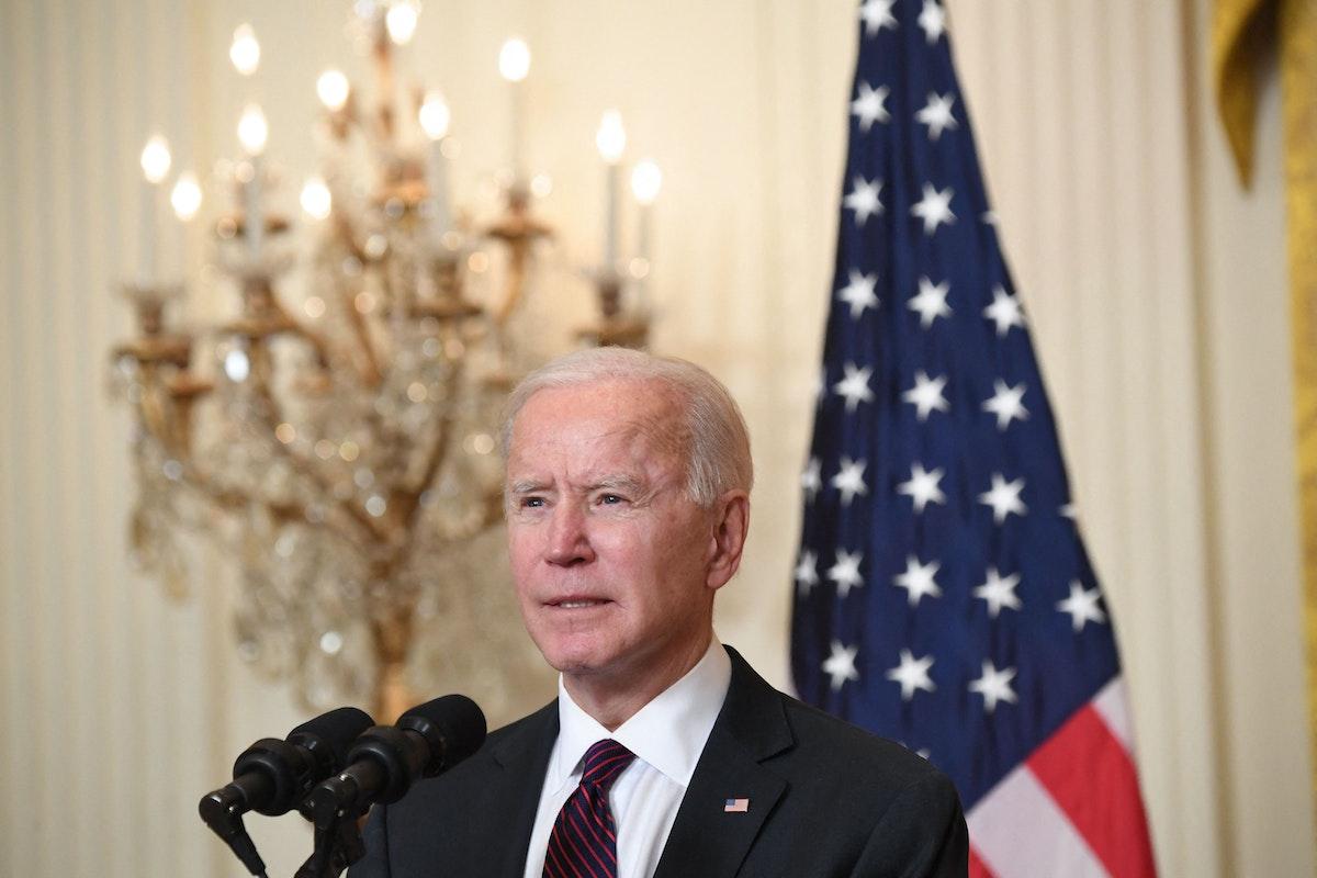 الرئيس الأميركي جو بايدن يتحدث إلى وسائل الإعلام بالبيت الأبيض. 23 فبراير 2021 - AFP