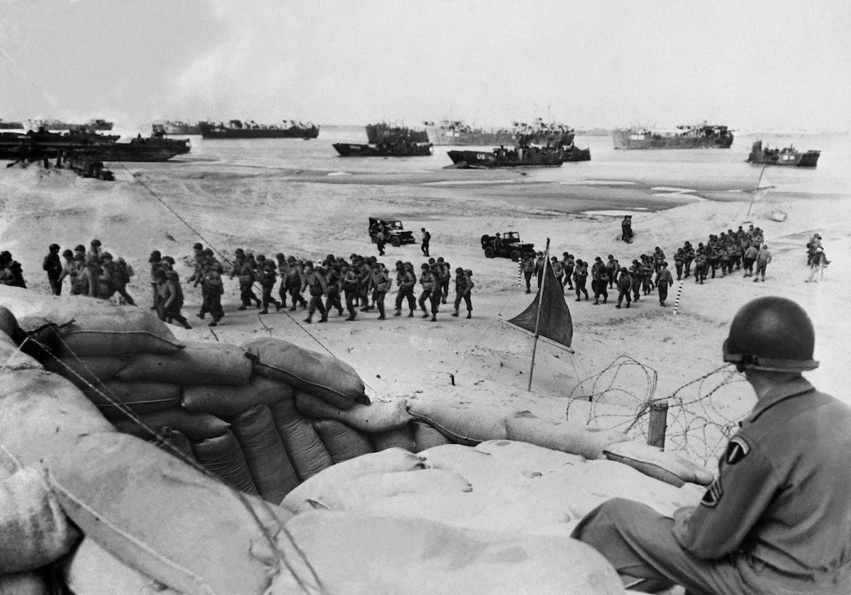 جانب من عمليات الإنزال في نورماندي، 6 يونيو 1944 - AFP