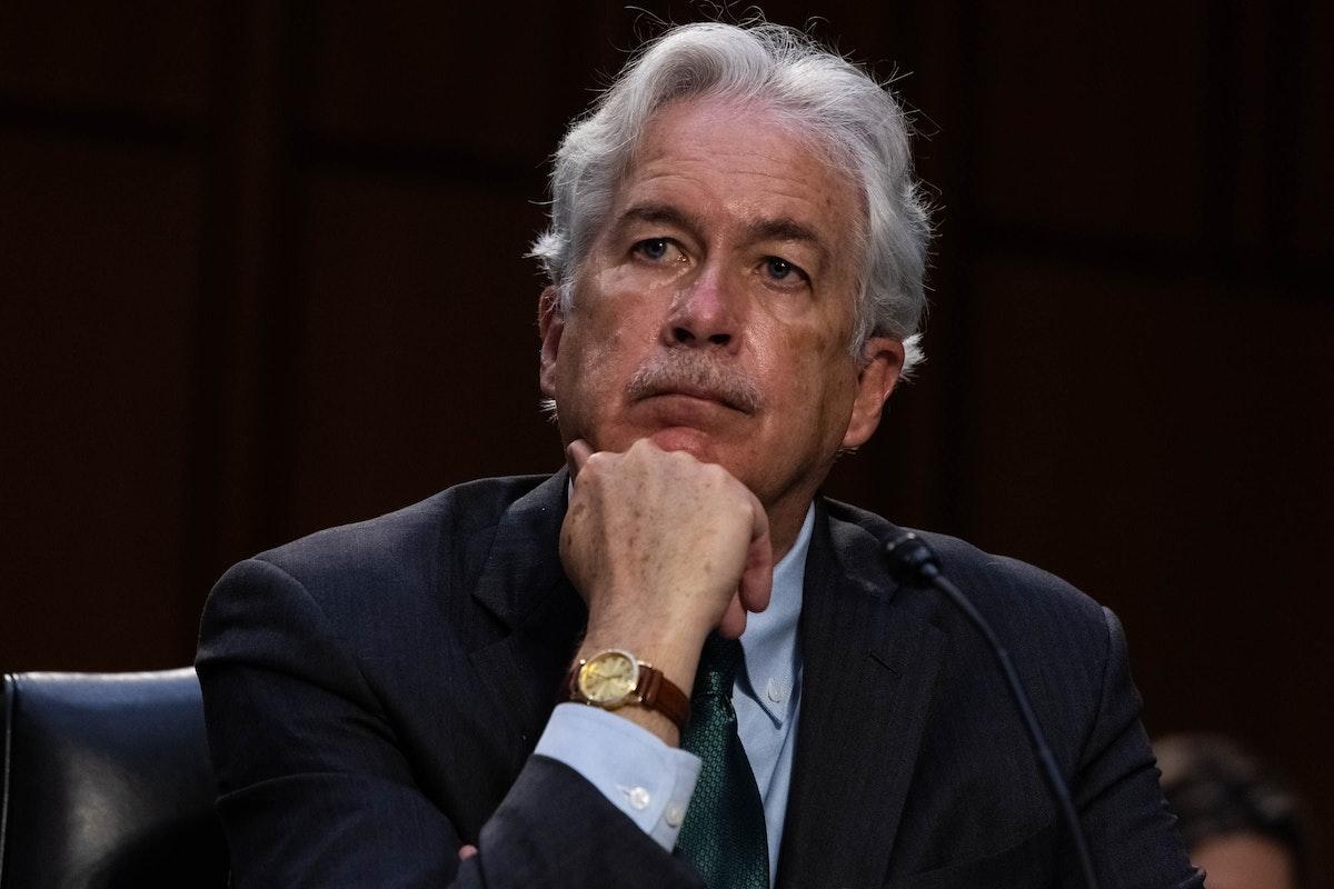 مدير وكالة الاستخبارات المركزية الأميركية، وليام بيرنز، خلال جلسة استماع للجنة الاستخبارات في مجلس الشيوخ - 14 أبريل 2021 - Bloomberg