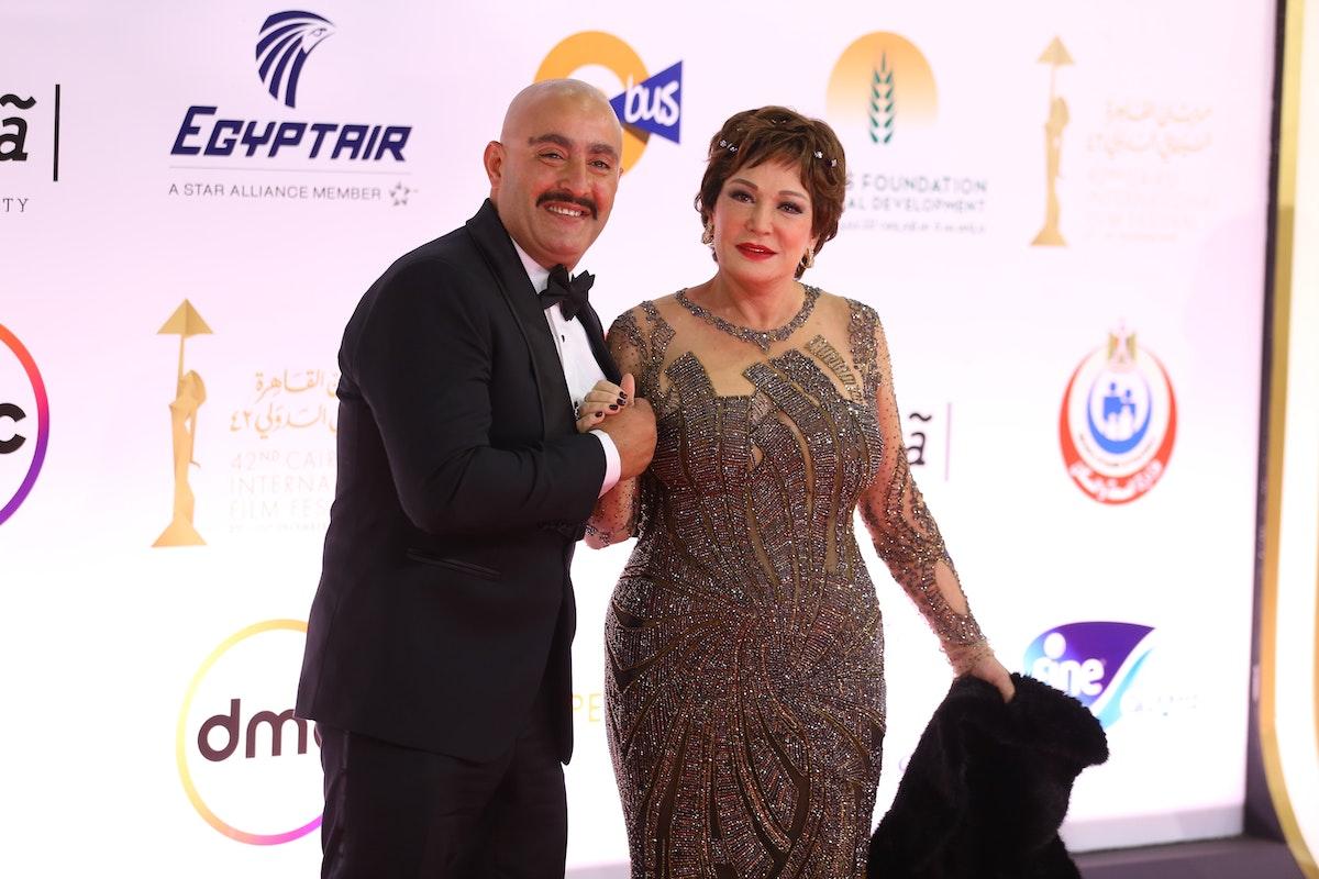أحمد السقا ولبلبة على السجادة الحمراء للافتتاح - المكتب الإعلامي للمهرجان