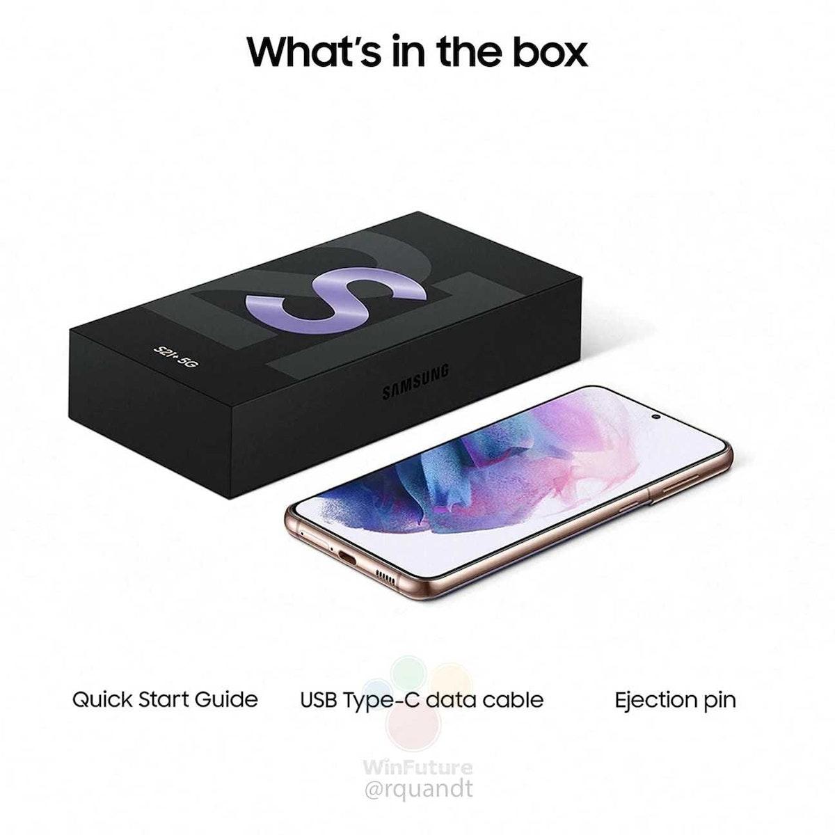 صورة ترويجية مسربة لعلبة هاتف سامسونغ غلاكسي S21 بلس - WinFuture