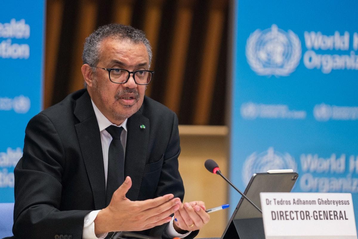 المدير العام لمنظمة الصحة العالمية تيدروس أدهانوم غيبريسوس - AFP