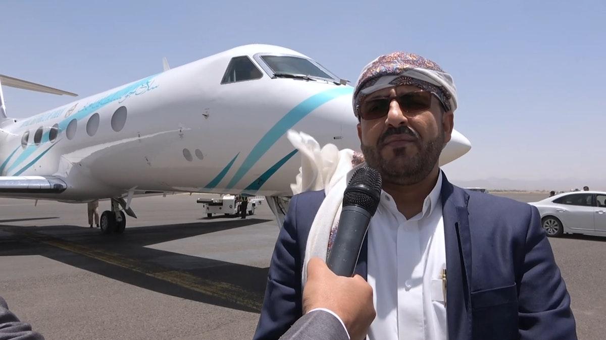 المتحدث باسم جماعة الحوثي محمد عبد السلام لحظة وصوله إلى صنعاء - 05 يونيو 2021