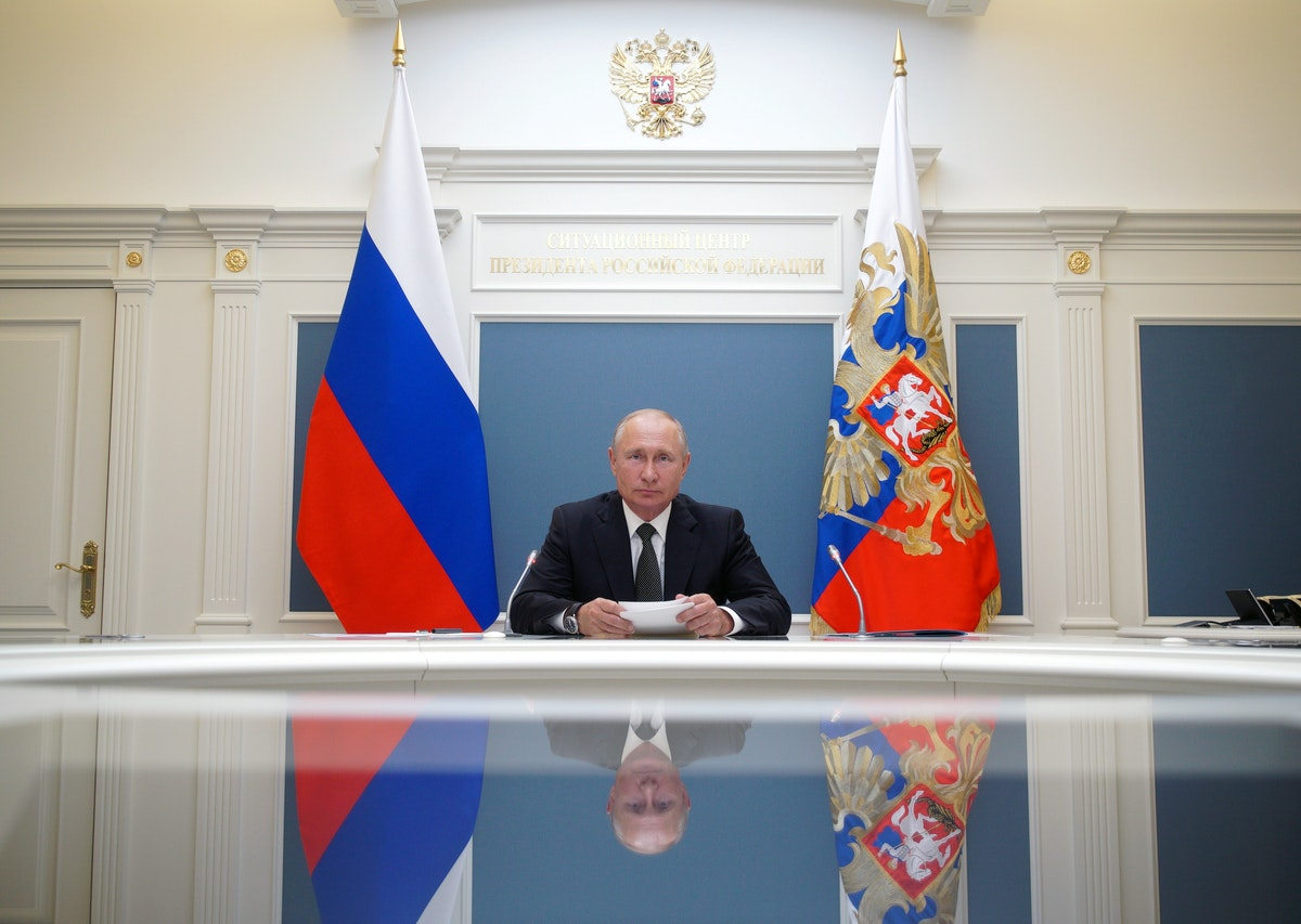 صورة من الملف: الرئيس الروسي بوتين يشارك في مؤتمر عبر الفيديو في موسكو - via REUTERS