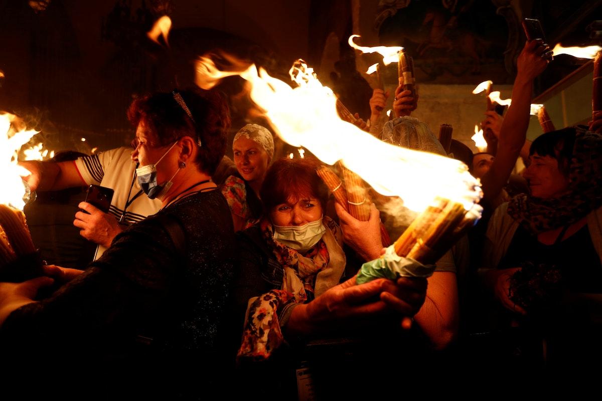 احتفالات دينية بكنيسة القيامة في القدس - REUTERS