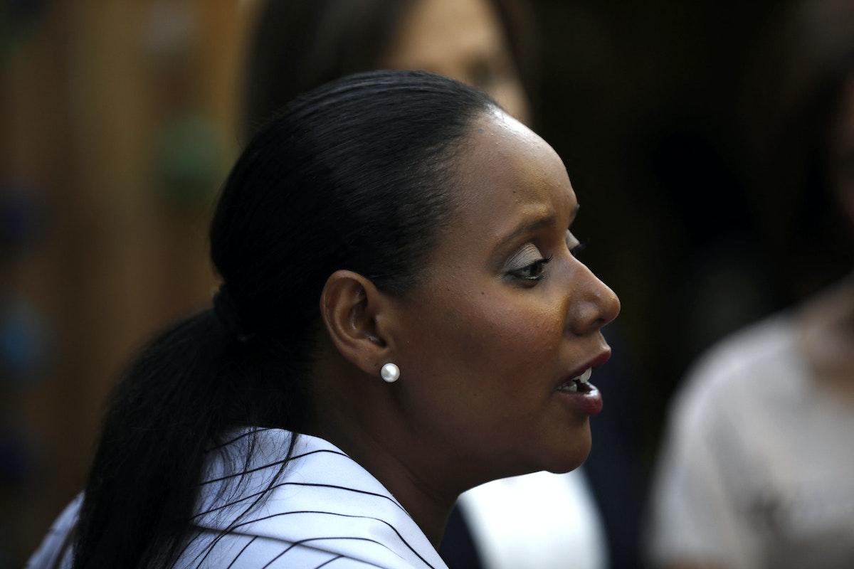 المرشحة لوزارة الهجرة والاستيعاب في الحكومة المقبلة بنينا تمانو شاطا - AFP