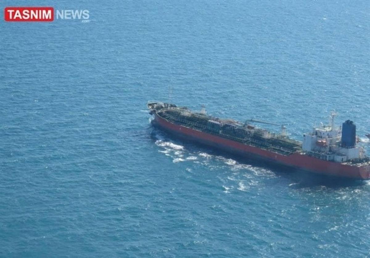 السفينة الكورية الجنوبية لحظة احتجازها
