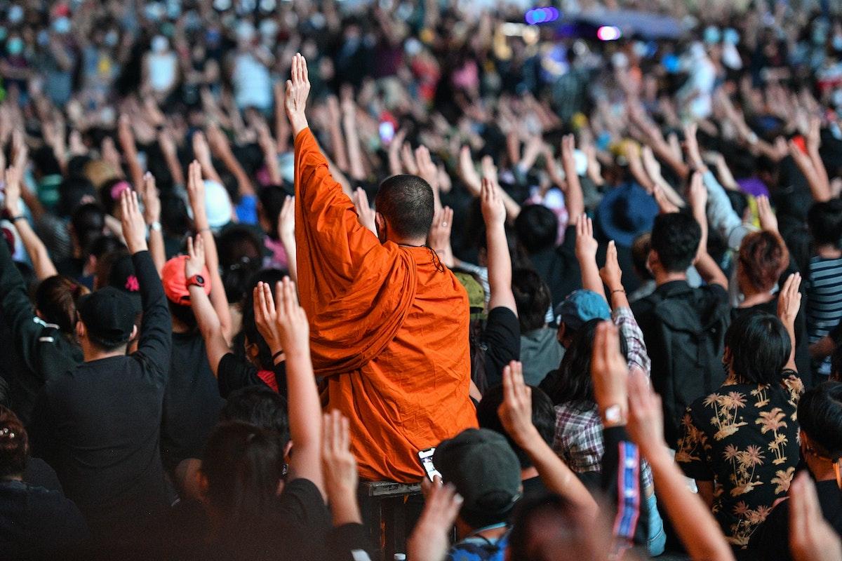 المتظاهرون المؤيدون للديمقراطية في تايلاند - AFP