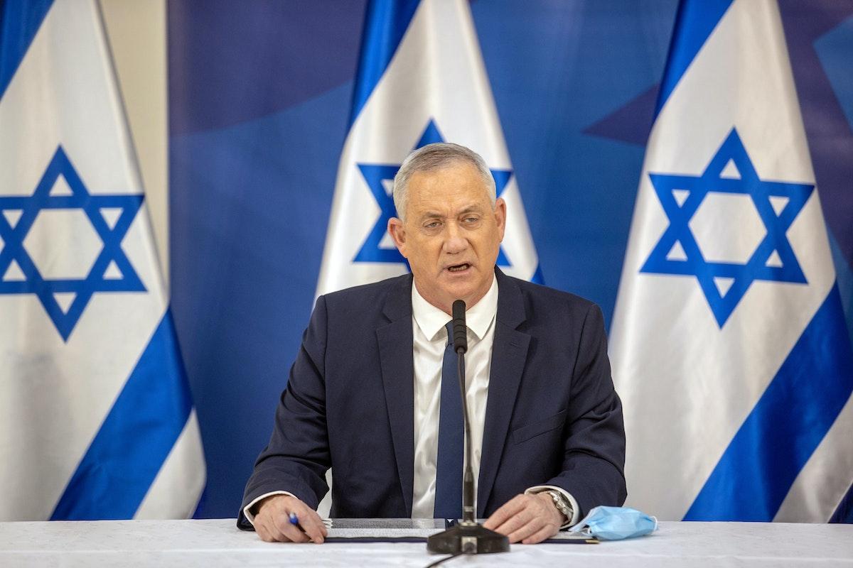 وزير الدفاع الإسرائيلي والمرشح للاحتفاظ بالمنصب نفسه في الحكومة المقبلة بيني غانتس - REUTERS