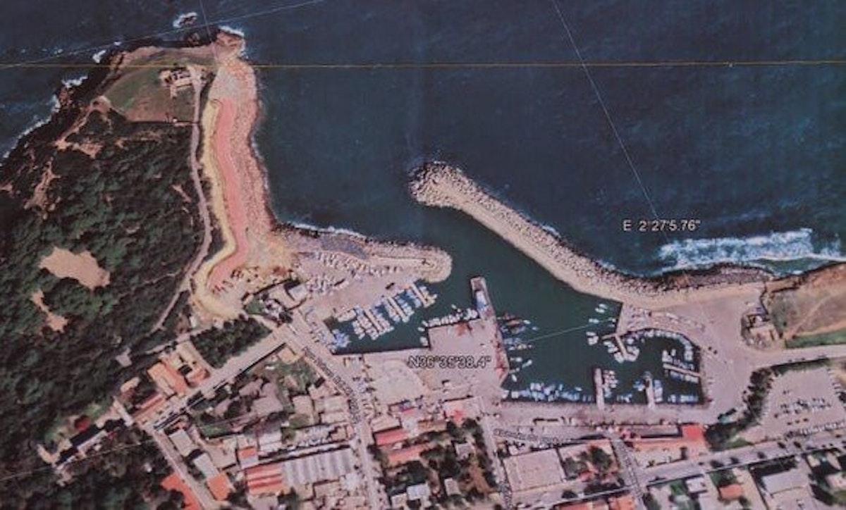 """صورة لموقع ميناء الجزائر الجديد من الأقمار الصناعية - """"وكالة الأنباء الجزائرية"""""""