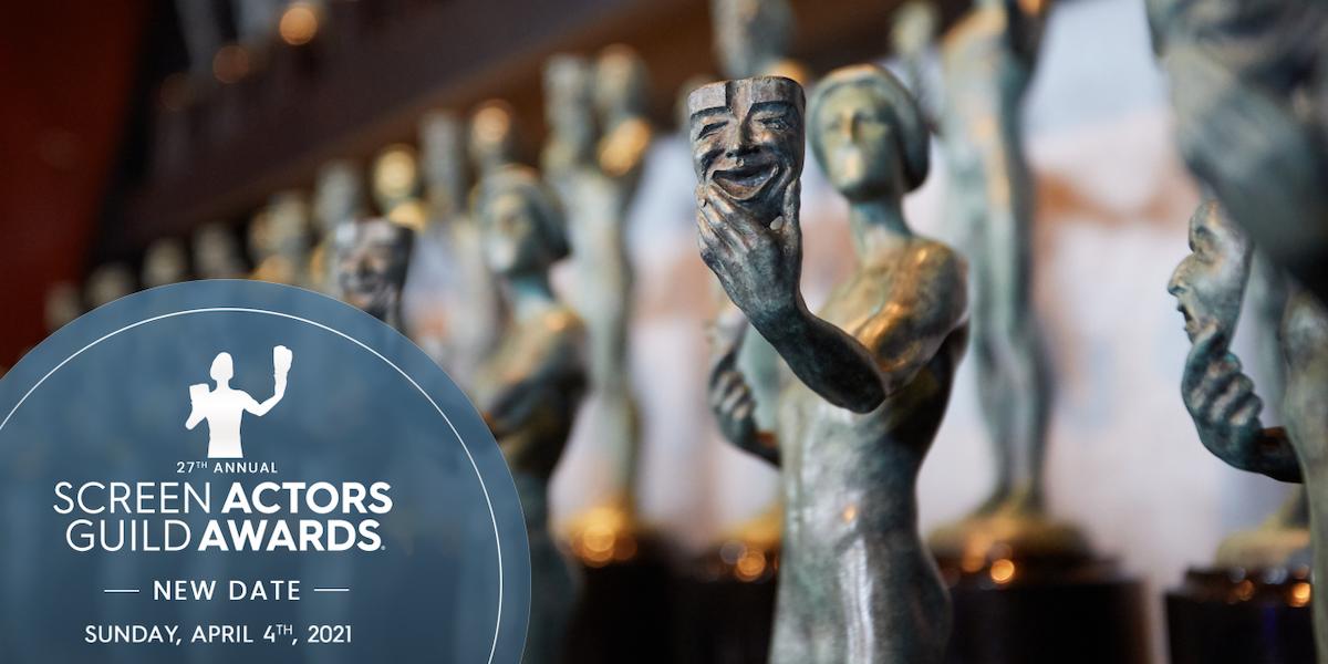 ملصق جوائز نقابة ممثلي الشاشة في هوليوود (ساغا) يعلن الموعد الجديد لحفله الـ27 - الموقع الرسمي للجائزة