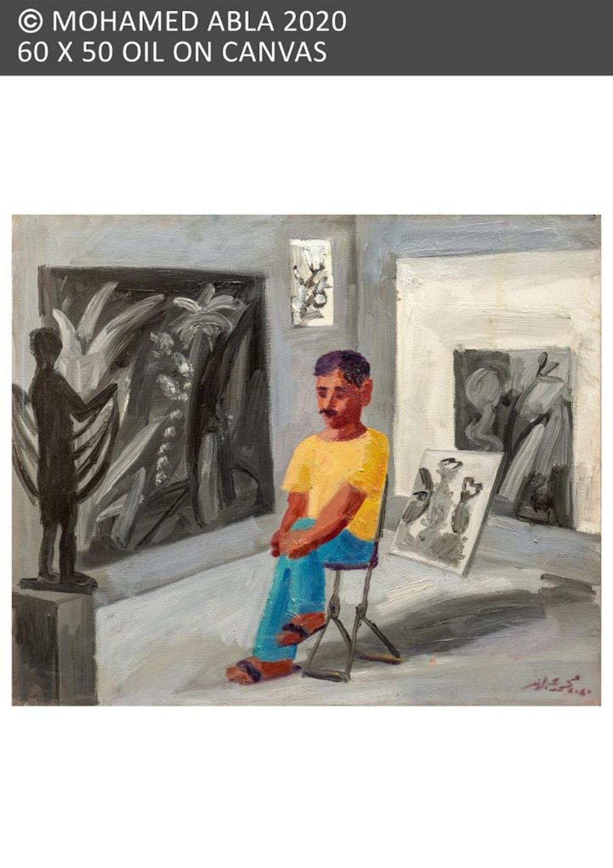 """إحدى لوحات معرض """"زمن الصبار"""" - الشرق"""