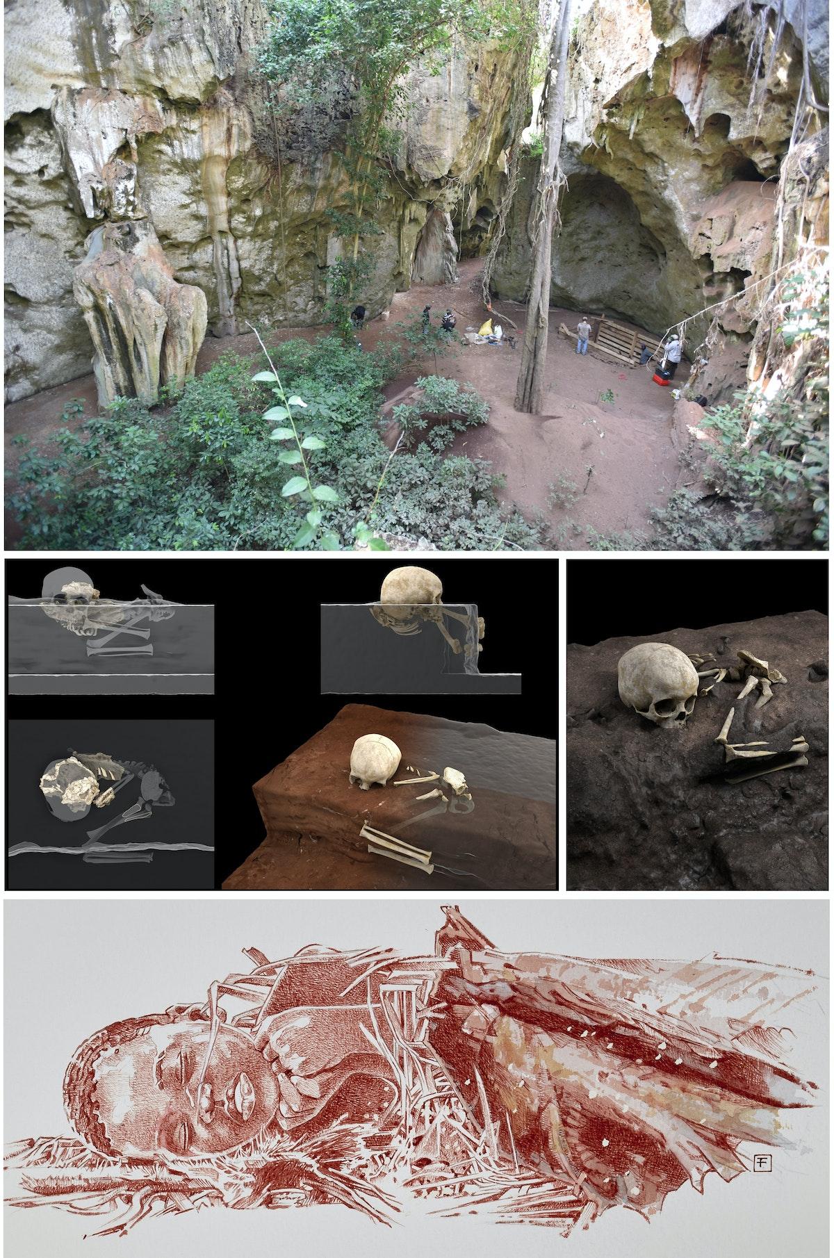 العثور على أقدم موقع دفن بشري في إفريقيا على بعد 50 كيلومتراً شمال مومباسا في كينيا - Mohammad Javad Shoaee / Jorge González / Elena Santos / F. Fuego / MaxPlanck Institute / CENIEH