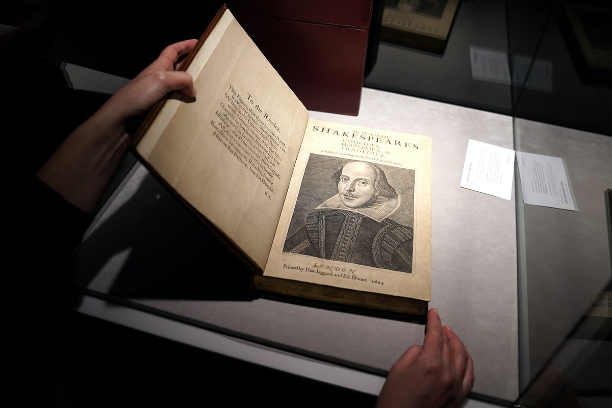 A 1663 rare first folio of 36 Shakespeare works sold in New York - REUTERS