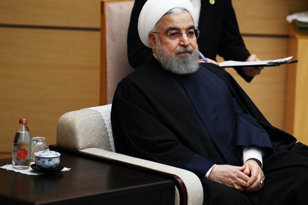 الرئيس الإيراني حسن روحاني خلال زيارة لطوكيو - 20 ديسمبر 2019 - REUTERS