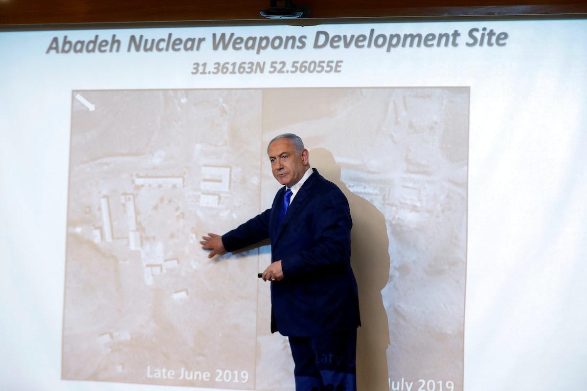 رئيس الوزراء الإسرائيلي بنيامين نتنياهو يتحدث في مؤتمر صحافي في القدس، 9 سبتمبر 2019 - REUTERS