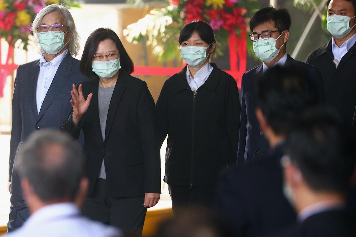 رئيسة تايوان، تساي إنغ ون تصل إلى إطلاق أول جيل جديد من سفن خفر السواحل في كاوشيونغ، تايوان. 11 ديسمبر 2020 - REUTERS
