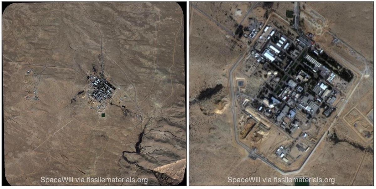 هصور أقمار صناعية نشرتها اللجنة الدولية للمواد الانشطارية تظهر أشغال بناء جديدة في منشأ ديمونة بإسرائيل - IPFM
