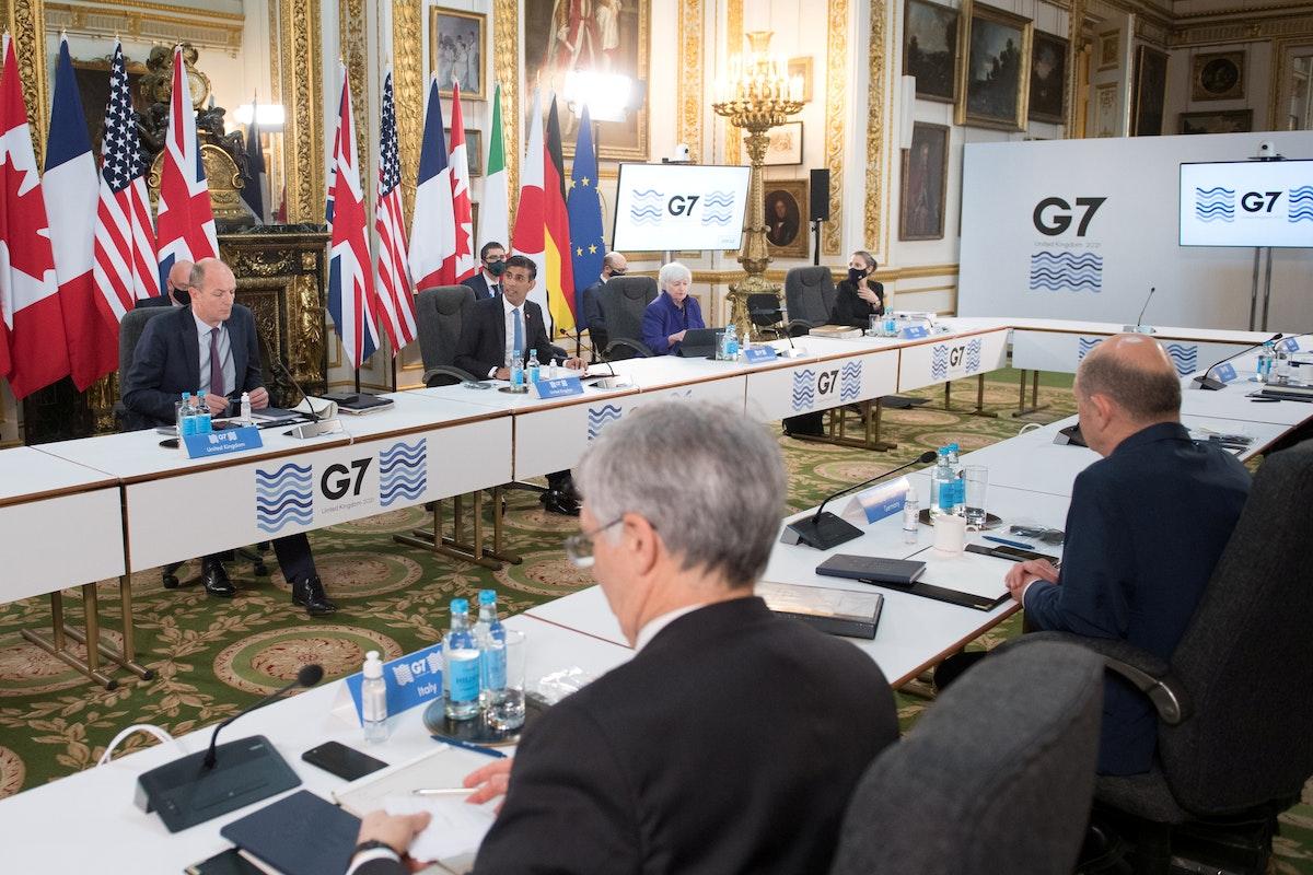 جانب من اجتماع وزراء مالية مجموعة السبع في لندن - REUTERS