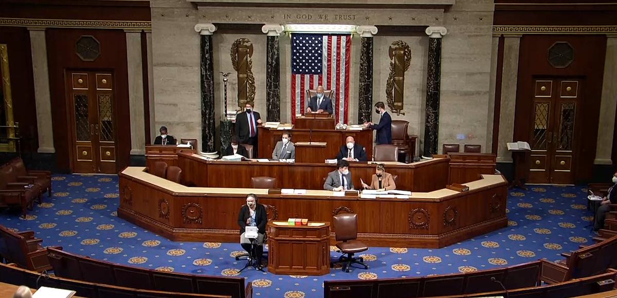 جانب من جلسة مجلس النواب الأميركي- 12 يناير 2021 - REUTERS