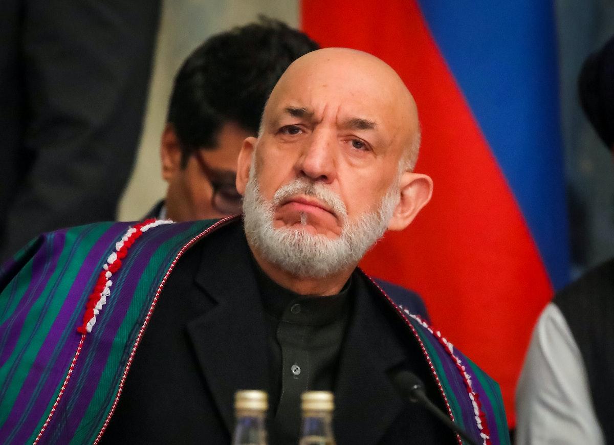 الرئيس الأفغاني السابق حامد كرزاي - REUTERS