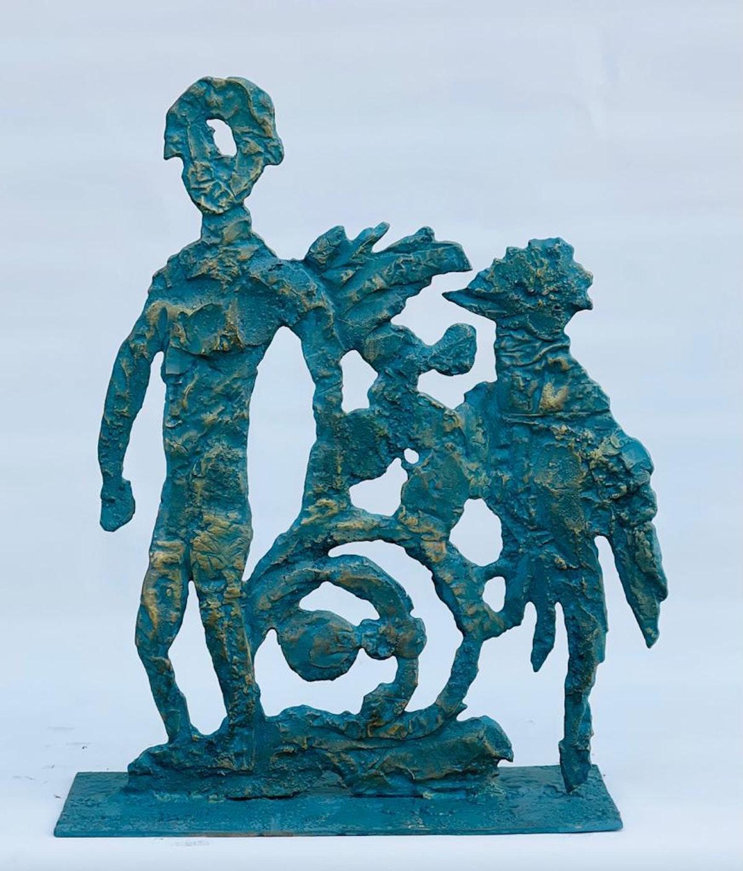 إحدى منحوتات الفنان التشكيلي المصري محمد عبلة - الشرق
