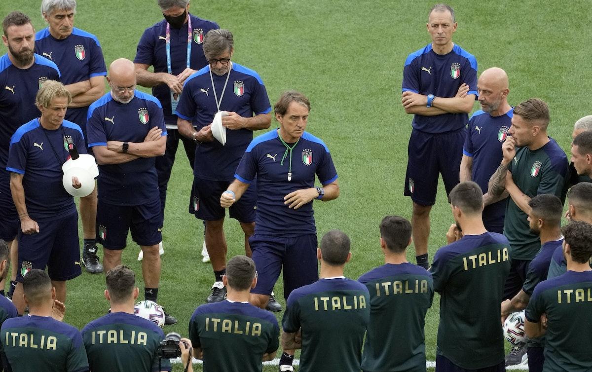 من تدريبات المنتخب الإيطالي - Pool via REUTERS
