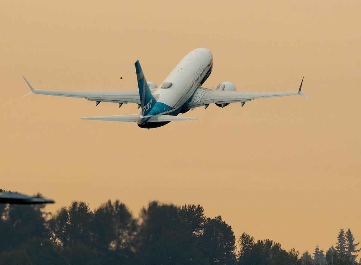 FILE PHOTO: FILE PHOTO: FAA Chief Steve Dickson takes off in a Boeing 737 MAX aircraft in Seattle - via REUTERS