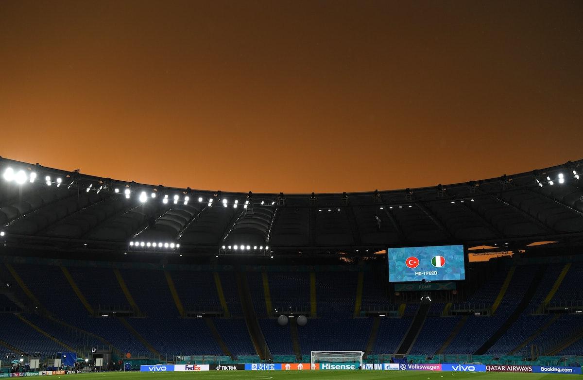 الملعب الأولمبي في روما الذي سيحتضن المباراة الافتتاحية لبطولة أمم أوروبا يورو 2020 - TWITTER/@EURO2020