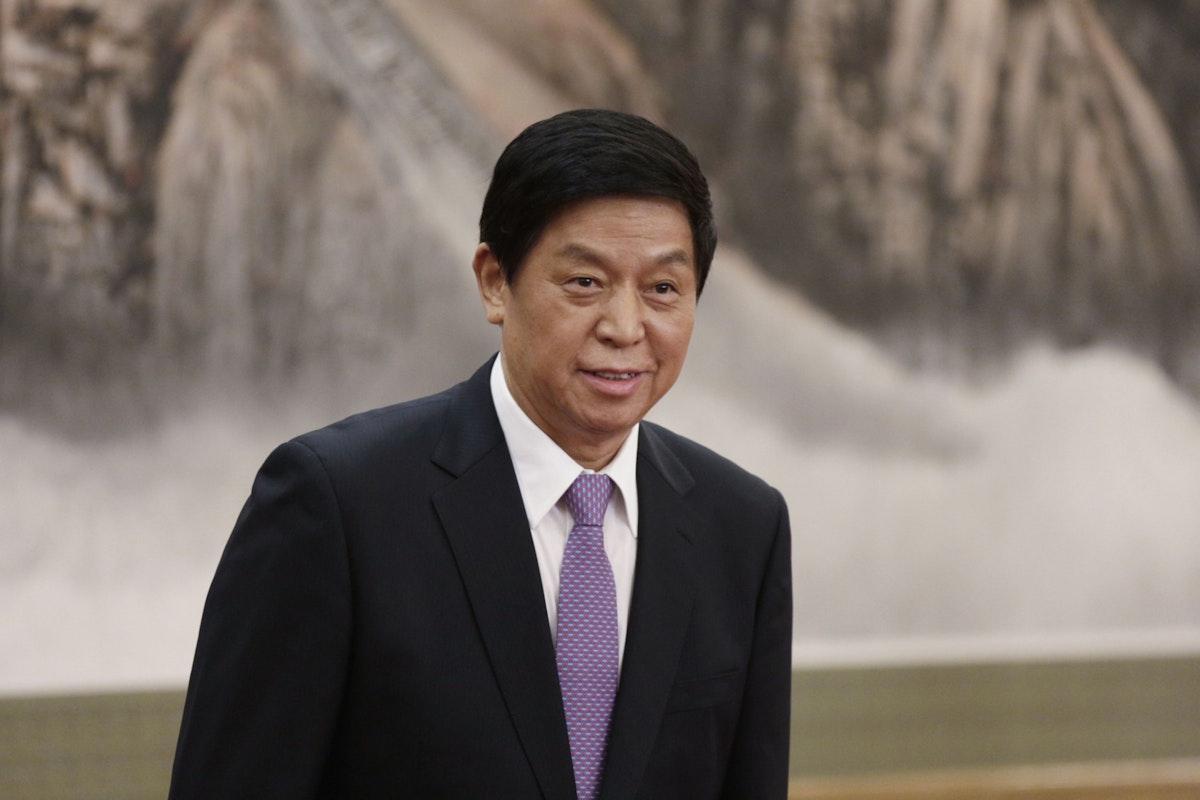 لي زانشو، رئيس اللجنة الدائمة للمجلس الوطني لنواب الشعب الصيني في مبنى البرلمان ببكين، 25 أكتوبر 2017 - Bloomberg