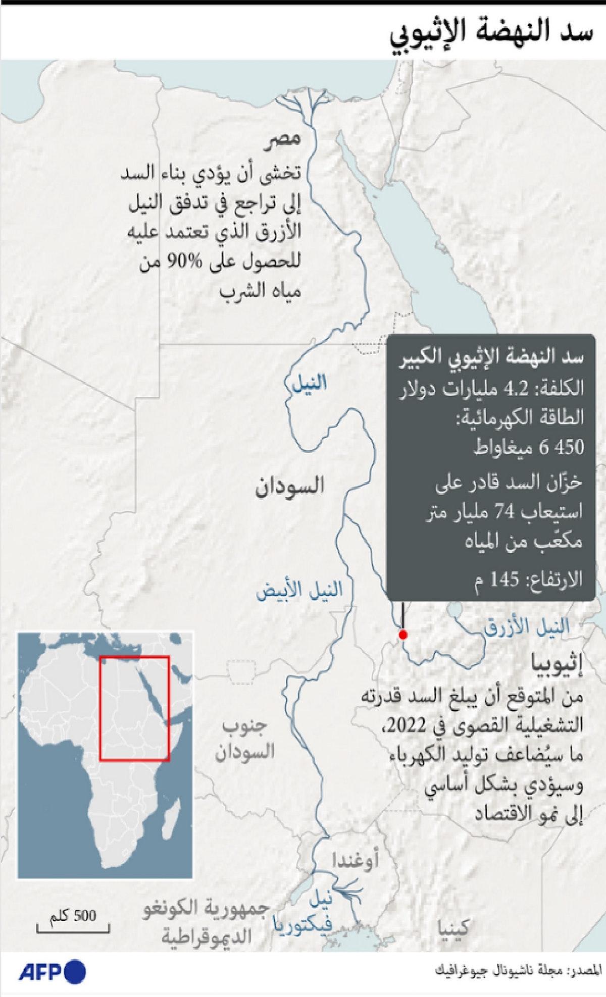 معلومات تقنية عن سد النهضة - AFP