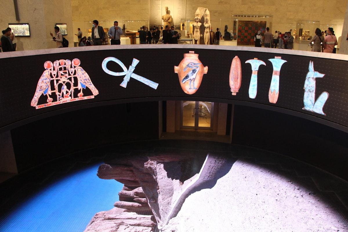 العرض البانورامي الخاص بالمتحف القومي الجديد للحضارة المصرية - الشرق