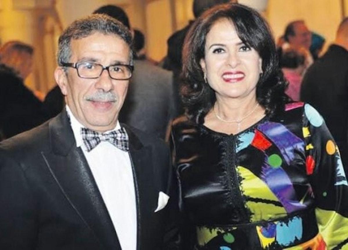 الفنان الراحل مع زوجته خديجة أسد - فيسبوك - الصفحة الرسمية