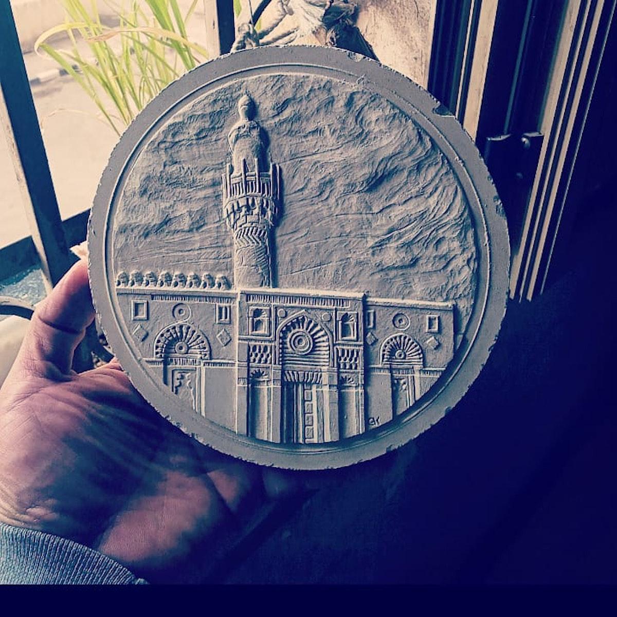 """منحوتة """"جامع الأقمر"""" ضمن مجموعة الميداليات التذكارية للقاهرة التاريخية - مصلحة الخزانة العامة وسك العملة المصرية"""