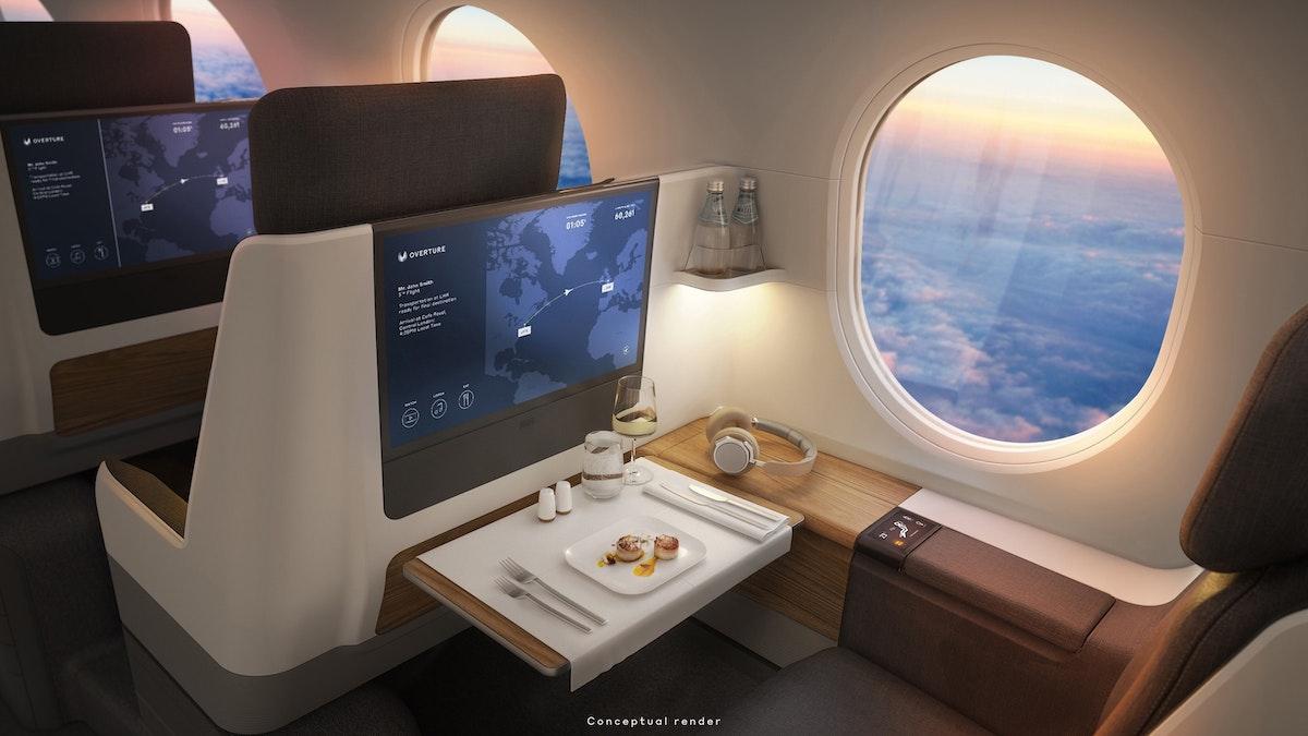 """صورة داخلية نموذجية لطائرة """"بووم"""" الأسرع من الصوت - boomsupersonic.com"""