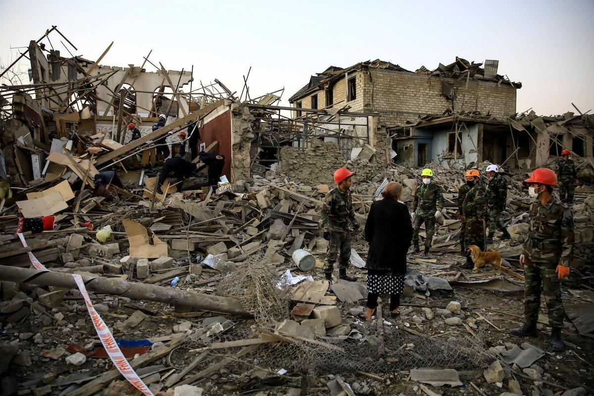 مدينة كنجه، ثاني مدن أذربيجان بعد تعرضها للقصف - 17أكتوبر 2020 - REUTERS