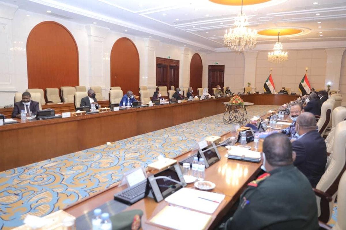 جانب من اجتماع مجلس الأمن والدفاع السوداني في الخرطوم الاثنين 5 أبريل 2021 - سونا