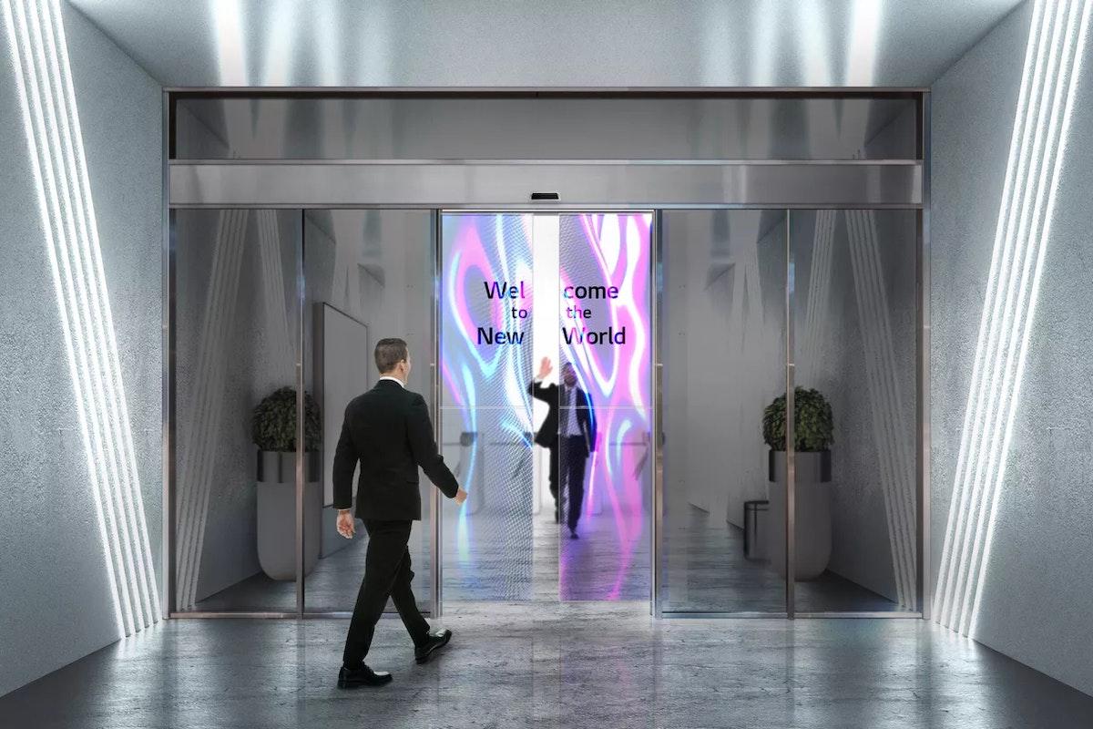 تصميم تخيلي لأبواب متحركة بشاشات إل جي الشفافة - إل جي