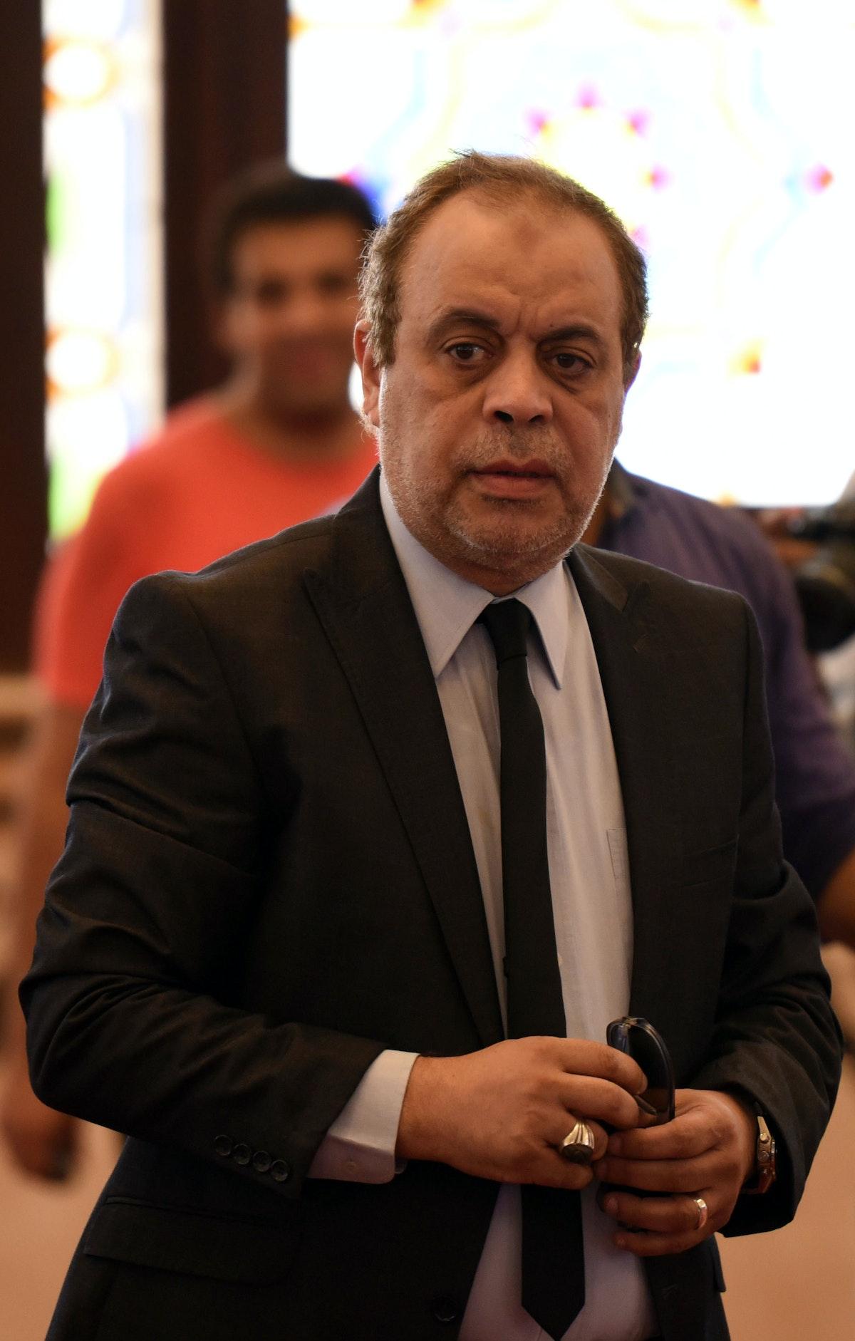 نقيب الممثلين المصريين أشرف زكي - AFP