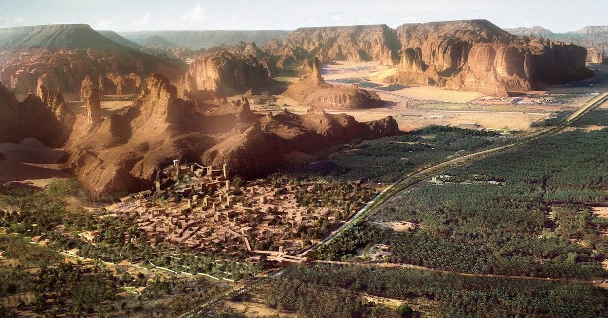 """منظر عام لمدينة دادان التاريخية في محافظة العلا - """"الشرق"""""""