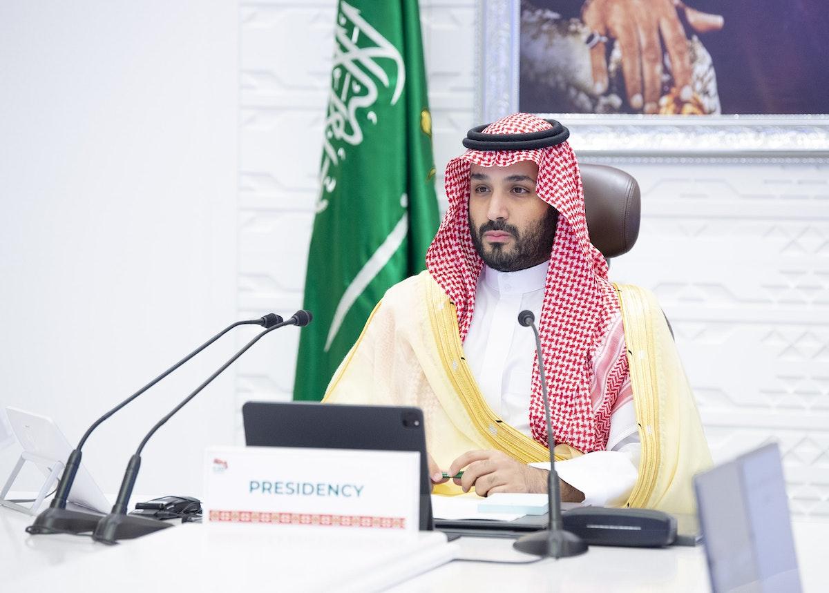"""ولي العهد السعودي يترأس الجلسة الأخيرة في اليوم الثاني لقمة الرياض لقادة مجموعة العشرين - """"تويتر"""" وزارة الخارجية السعودية"""