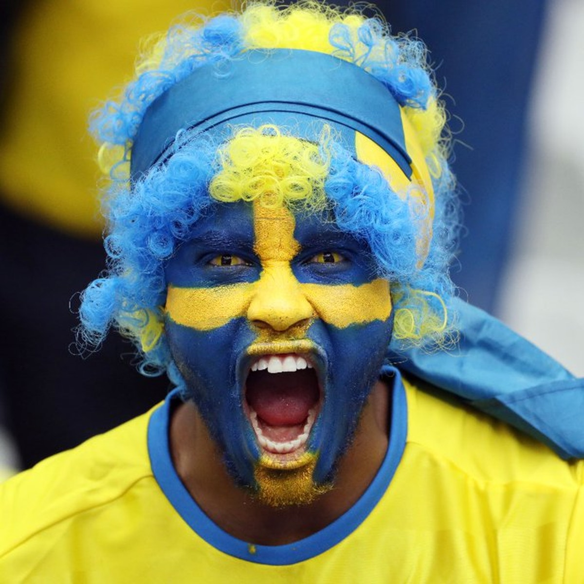 أحد مشجعي المنتخب السويدي - TWITTER/@EURO2020